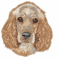 cocker022 Cocker Spaniel (small or large design)