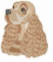 cocker029 Cocker Spaniel (small or large design)