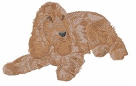 cocker031 Cocker Spaniel (small or large design)