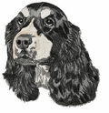 cocker034 Cocker Spaniel (small or large design)