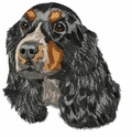 cocker035 Cocker Spaniel (small or large design)