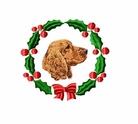 cocker1wreath Cocker Spaniel (small or large design)