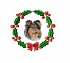 collie1wreath Collie (small or large design)