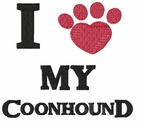 coonhound017 Coonhound  (small or large design)