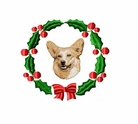 corgi2wreath Welsh Corgi (small or large design)