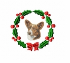 corgi3wreath Welsh Corgi (small or large design)