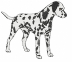 dal009 Dalmatian (small or large design)