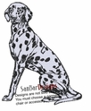 dal036 Dalmatian (small or large design)