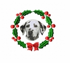 dal1wreath Dalmatian (small or large design)