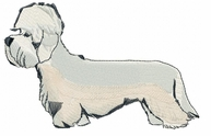dandie001 Dandie Dinmont Terrier (small or large design)