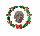 dandie1wreath Dandie Dinmont Terrier (small or large design)