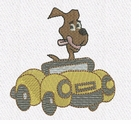Dog in Convertible Car with small or large design