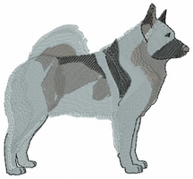 elkh002 Norwegian Elkhound (small or large design) - Click to enlarge