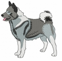 elkh003 Norwegian Elkhound (small or large design)