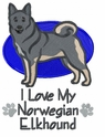 elkh005 Norwegian Elkhound (small or large design)