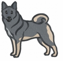 elkh006 Norwegian Elkhound (small or large design)