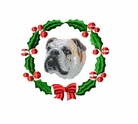 englishbulldog1wreath Bulldog (small or large design)