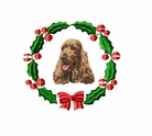 englishcocker1wreath Cocker Spaniel (small or large design)