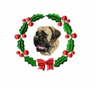 engmast1wreath English Mastiff (small or large design)