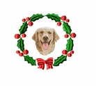 golden1wreath Golden Retriever (small or large design)