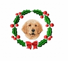 golden2wreath Golden Retriever (small or large design)