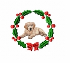 golden3wreath Golden Retriever (small or large design)