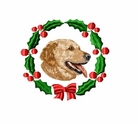 golden4wreath Golden Retriever (small or large design)