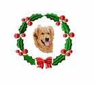 golden5wreath Golden Retriever (small or large design)