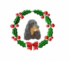 gord1wreath Gordon Setter  (small or large design)