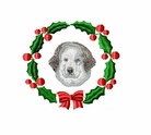 gr8pyr1wreath Great Pyranees (small or large design)