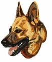 gsd004 German Shepherd Dog (small or large design)