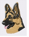 gsd005 German Shepherd Dog (small or large design)
