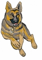 gsd018 German Shepherd Dog (small or large design)