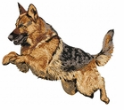 gsd020 German Shepherd Dog (small or large design)