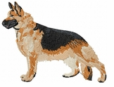 gsd021 German Shepherd Dog (small or large design)