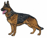 gsd022 German Shepherd Dog (small or large design)