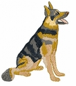 gsd023 German Shepherd Dog (small or large design)
