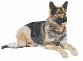 gsd026 German Shepherd Dog (small or large design)
