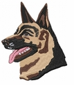 gsd027 German Shepherd Dog (small or large design)