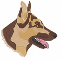 gsd033 German Shepherd Dog (small or large design)