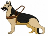 gsd036 German Shepherd Dog (small or large design)