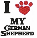gsd038 German Shepherd Dog (small or large design)