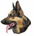 gsd086 German Shepherd Dog (small or large design)