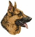 gsd087 German Shepherd Dog (small or large design)