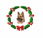 gsd2wreath German Shepherd Dog (small or large design)