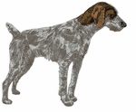 gwp003 German Wirehaired Pointer (small or large design)