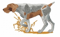 gwp006 German Wirehaired Pointer (small or large design)