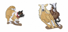 herding058 Herding    (small or large design) - Click to enlarge