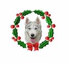 husky2wreath Siberian Husky (small or large design)