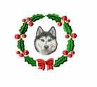 husky3wreath Siberian Husky (small or large design)